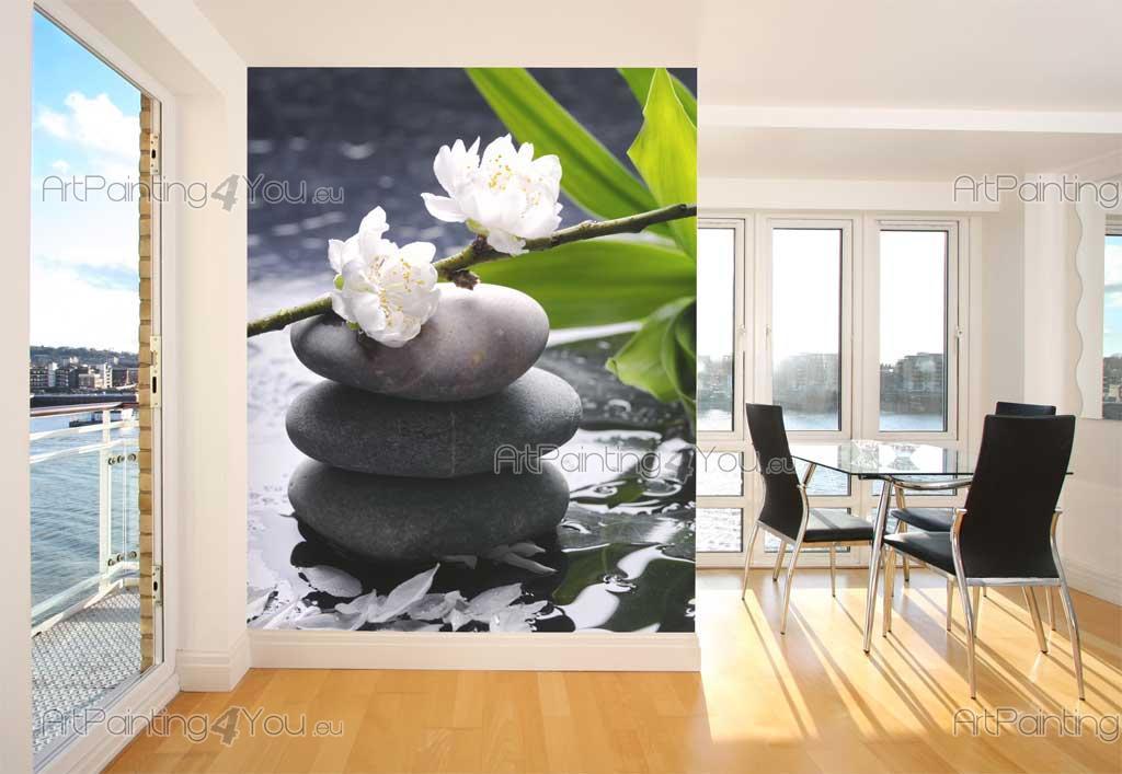 Wall murals posters zen stones flowers for Poster xxl mural zen