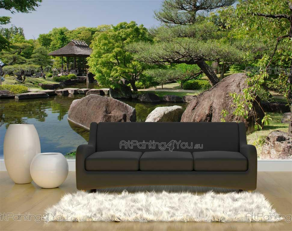 papier peint poster jardin japonais mcz1022fr. Black Bedroom Furniture Sets. Home Design Ideas