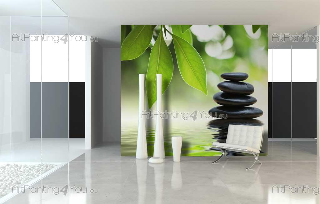 wall murals zen spa canvas prints posters zen stones 885en. Black Bedroom Furniture Sets. Home Design Ideas