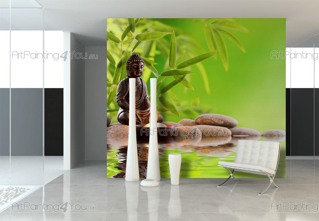 Wall murals posters buddha statue for Poster mural zen deco