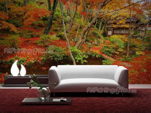 wall murals zen spa canvas prints posters japanese garden 887en. Black Bedroom Furniture Sets. Home Design Ideas
