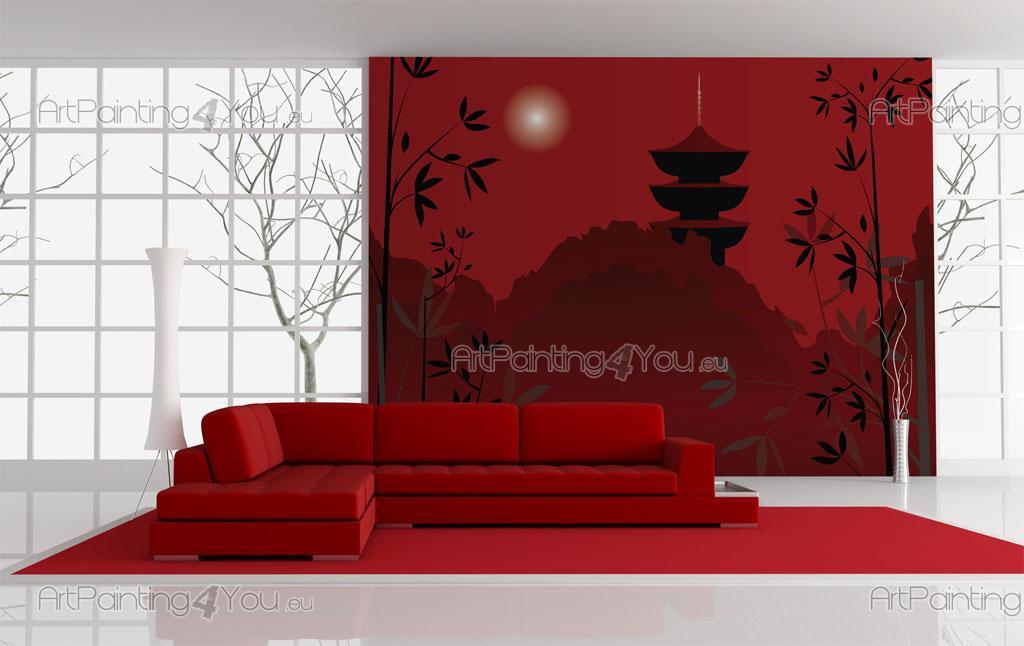 papier peint poster temple japonais mcz1036fr. Black Bedroom Furniture Sets. Home Design Ideas