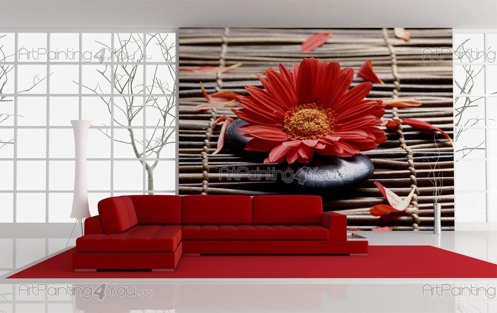 papier peint poster gerbera. Black Bedroom Furniture Sets. Home Design Ideas