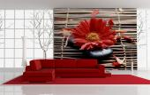 Red Gerbera - Wall Murals Flowers & Posters