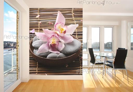 Zen Stones & Orchid - Zen and Spa Wall Murals & Posters