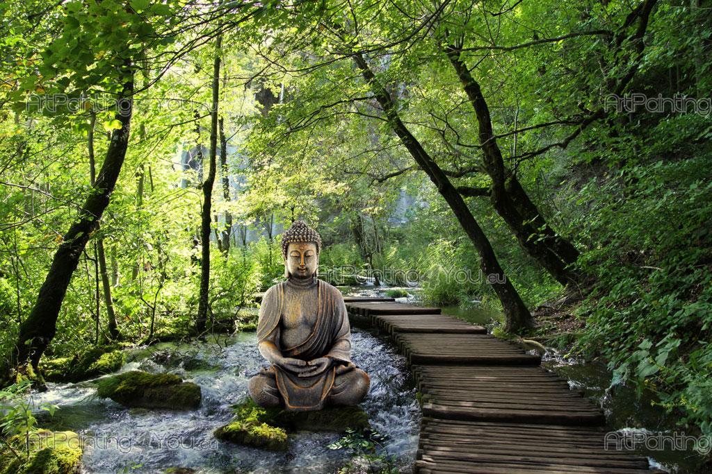 papier peint zen spa poster impression sur toile statue bouddha 1407fr. Black Bedroom Furniture Sets. Home Design Ideas