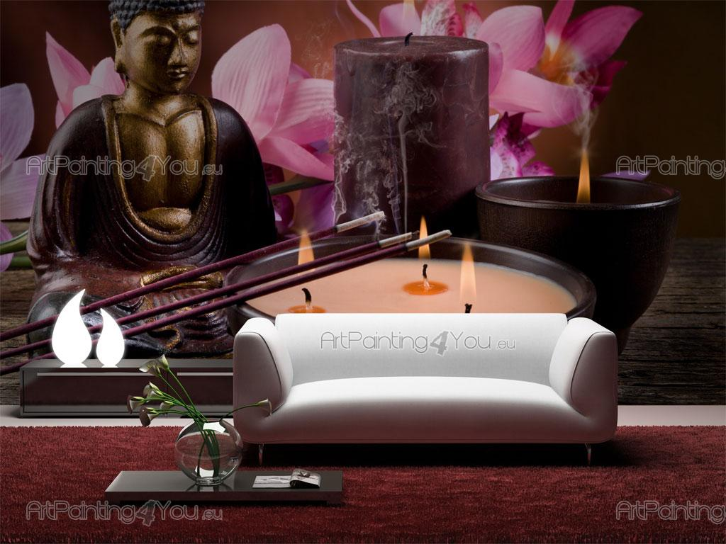 Wall Murals Amp Posters Buddha Statue Amp Orchids
