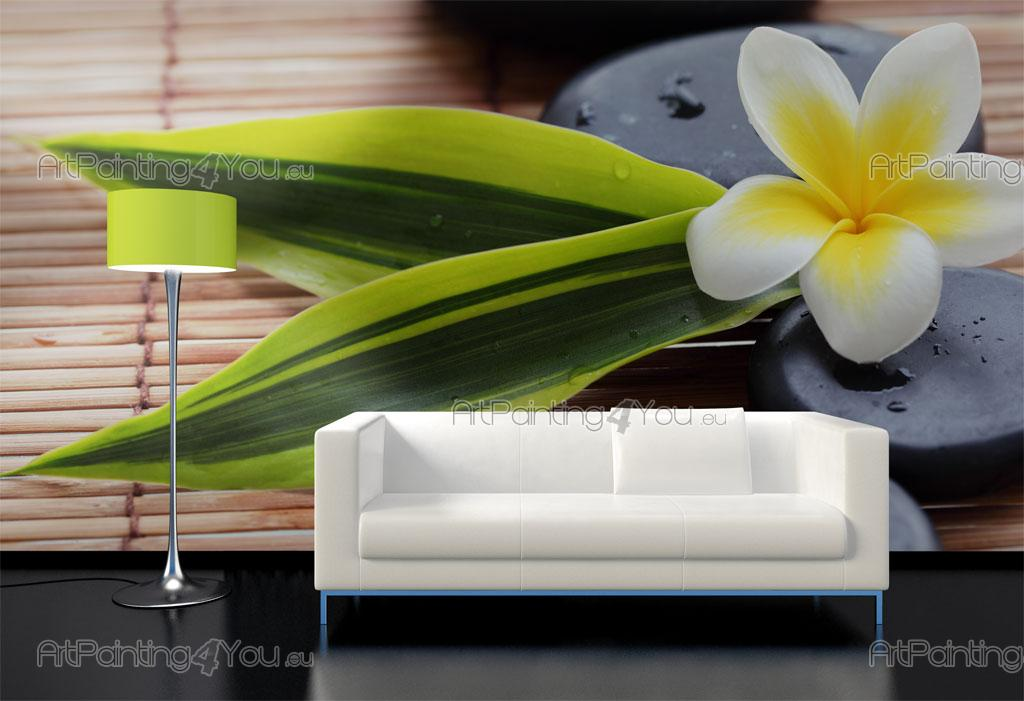 Wall murals zen spa canvas prints posters plumeria for Poster mural geant zen