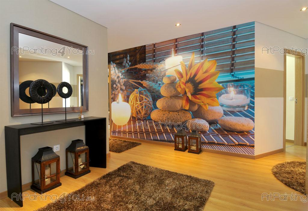 wall murals posters zen stones flowers mcz1055en. Black Bedroom Furniture Sets. Home Design Ideas