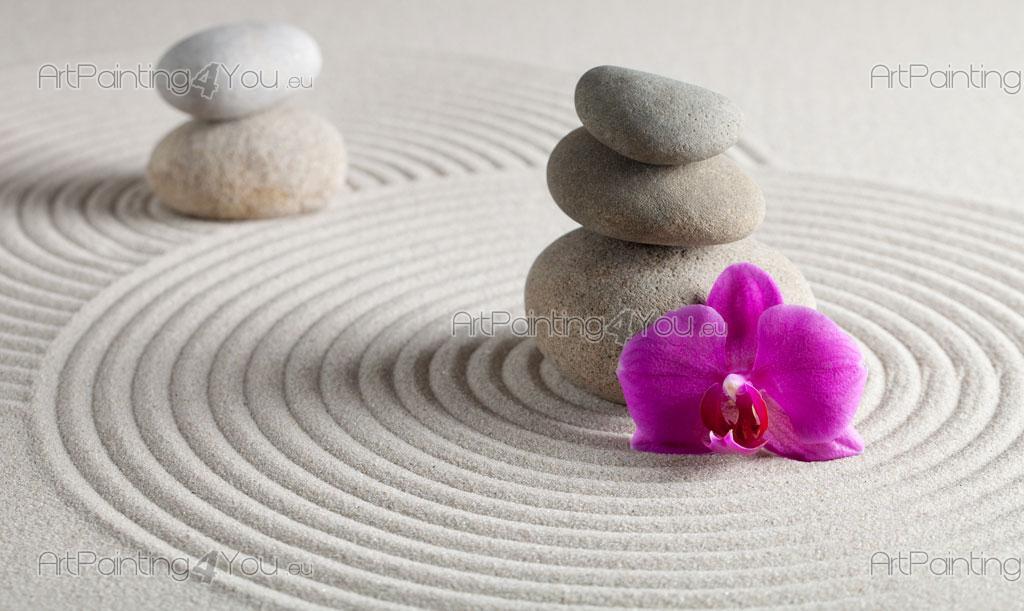 Papier peint zen spa poster impression sur toile for Fotos piedras zen