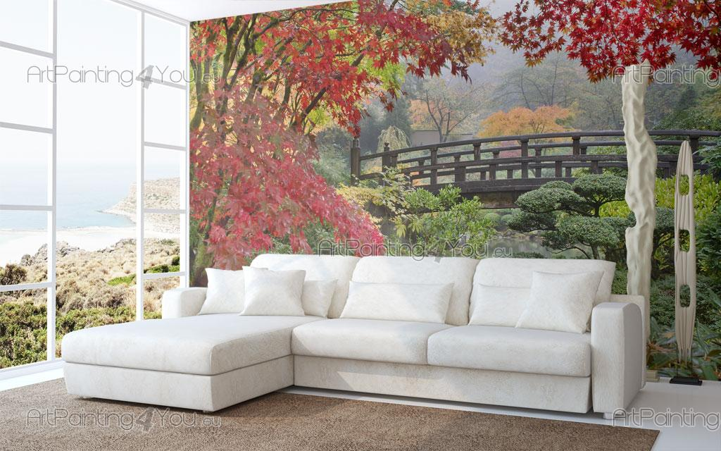 papier peint poster jardin japonais mcz1062fr. Black Bedroom Furniture Sets. Home Design Ideas