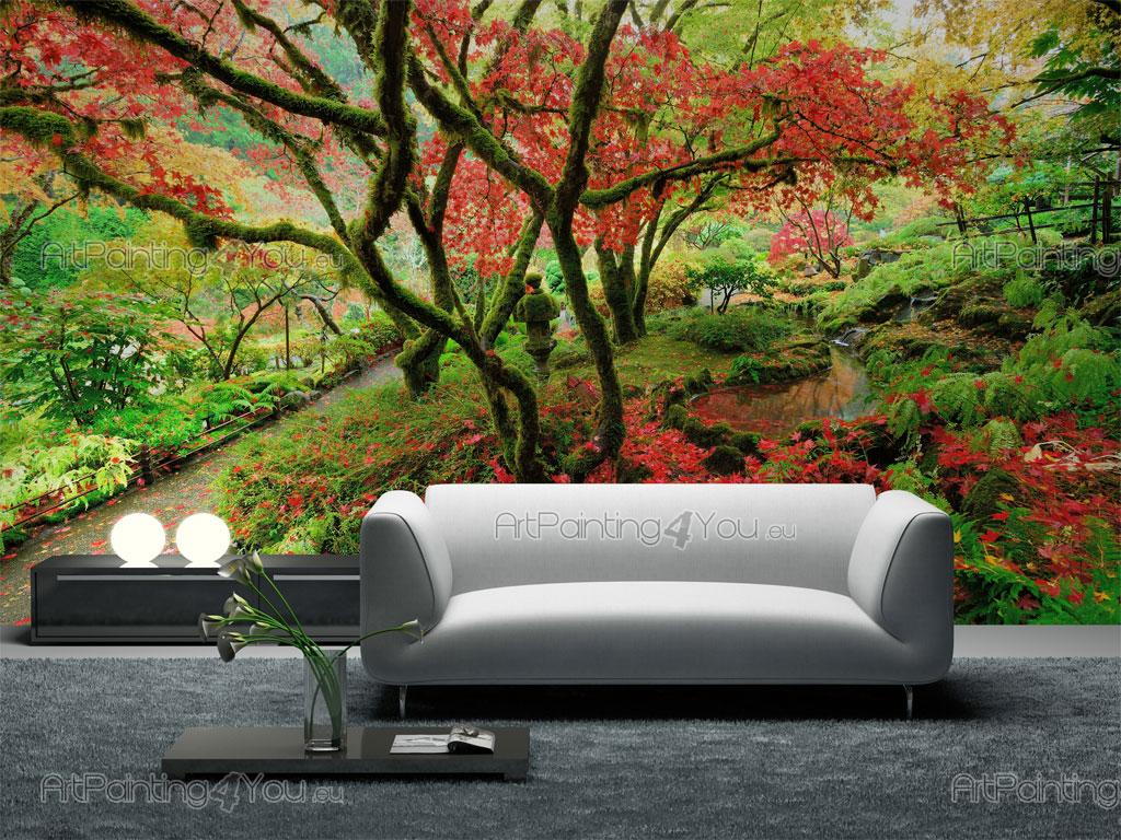 papier peint poster jardin japonais mcz1063fr. Black Bedroom Furniture Sets. Home Design Ideas