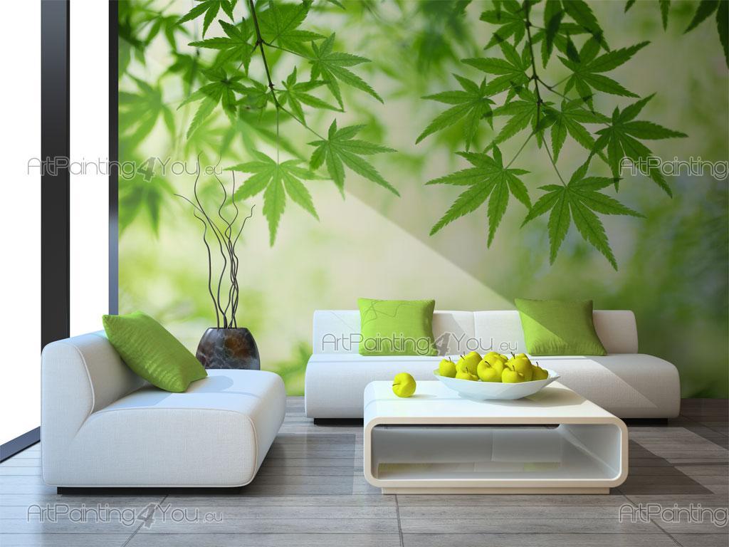 papier peint poster personnalis sur mesure feuilles. Black Bedroom Furniture Sets. Home Design Ideas