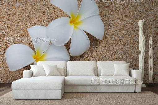 papier peint poster plumeria. Black Bedroom Furniture Sets. Home Design Ideas