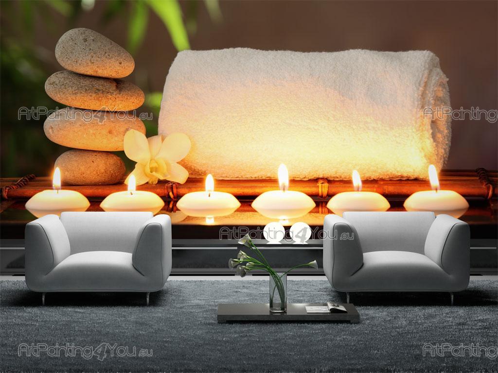 wall murals zen spa canvas prints posters zen stones spa 2241en. Black Bedroom Furniture Sets. Home Design Ideas