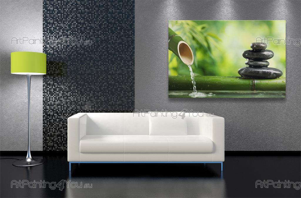 wall murals zen spa canvas prints posters zen stones bamboo 2249en. Black Bedroom Furniture Sets. Home Design Ideas