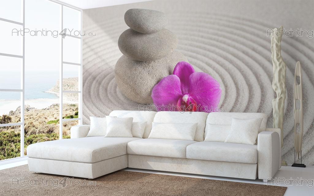 wall murals zen spa canvas prints posters zen stones 2317en. Black Bedroom Furniture Sets. Home Design Ideas