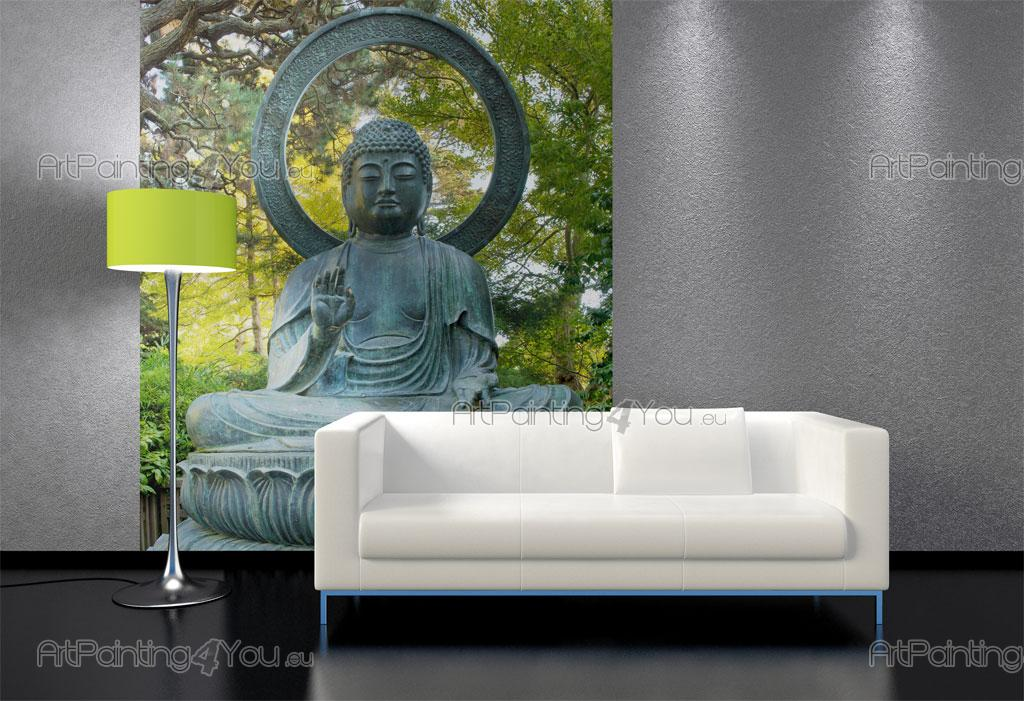 wall murals zen spa canvas prints posters buddha statue 2325en. Black Bedroom Furniture Sets. Home Design Ideas