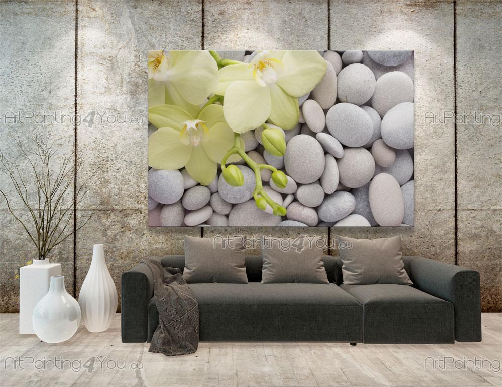 Wall Murals Posters Zen Stones Orchids ArtPainting4Youeu