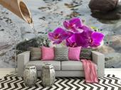 Amazing Zen posters with a beautiful orchid image to decorate the bedroom wall and living room