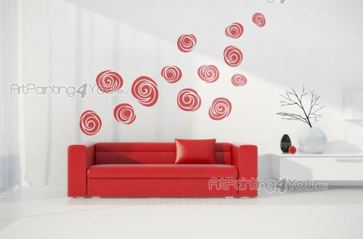 Abstract Rose - Abstract Wall Stickers