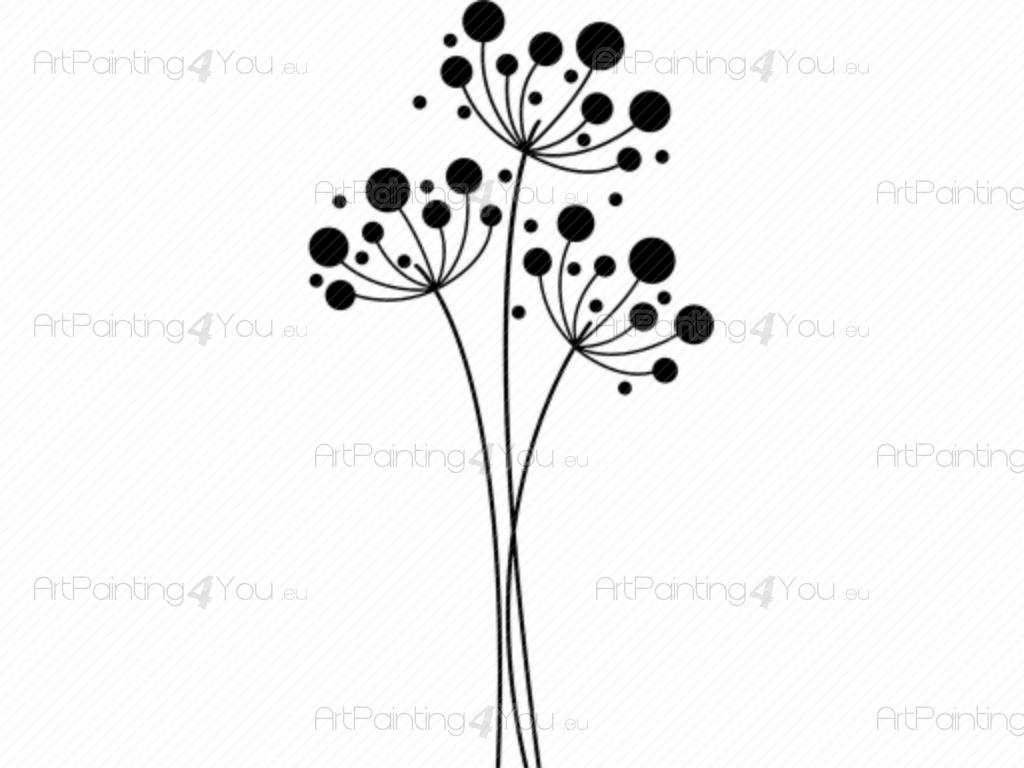 Wall decal dandelion