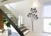 Abstract Wall Stickers - Wall stickers with floral motifs. Decorate a private living room or kitchen or a wall of your herbal pharmacy with three charming fennel flower heads ...