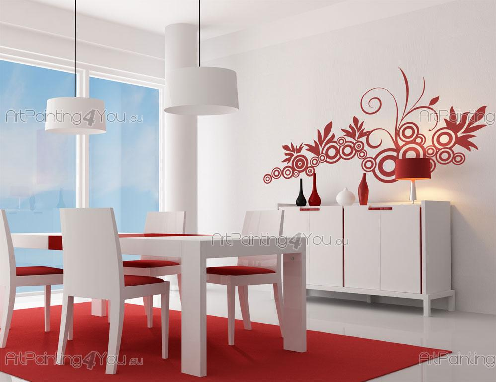 Väggdekor Grå : Väggdekor abstrakt cirklar design sv
