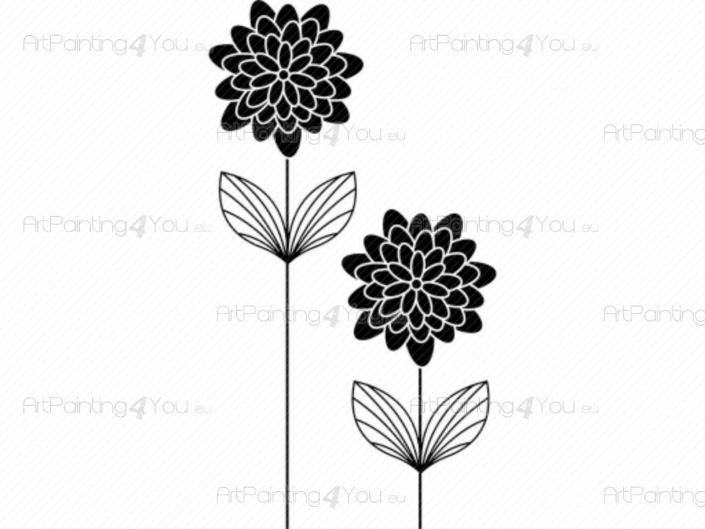 Abstract Flower - Abstract Wall Decals