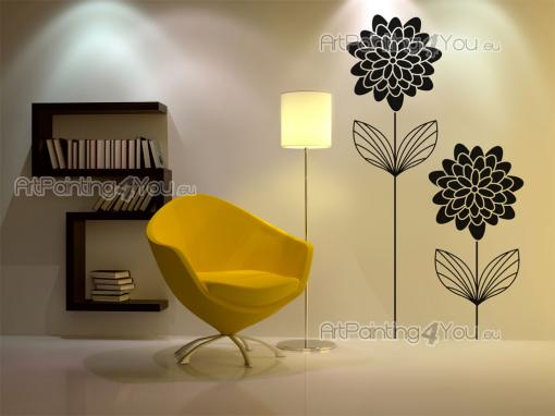 Floral Wall Stickers - Add flowers to the decor of a living room or dining room with the help our floral wall decals with exclusive designs. Apply on a bland, clean wall the...