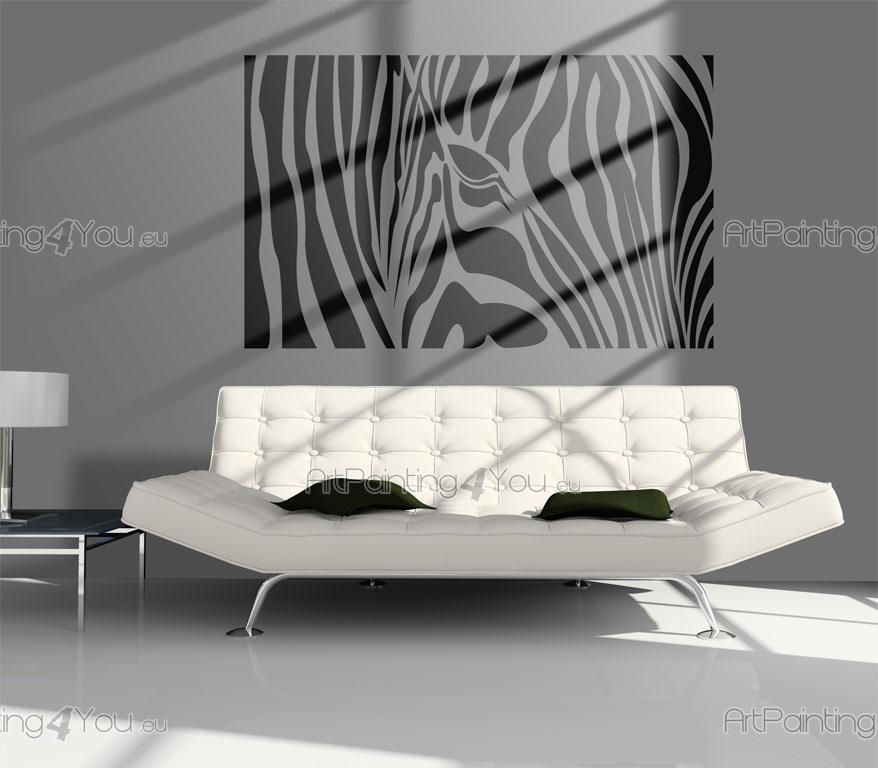 Adesivi murali silhouettes zebra 1144it - Decoracion en cebra ...