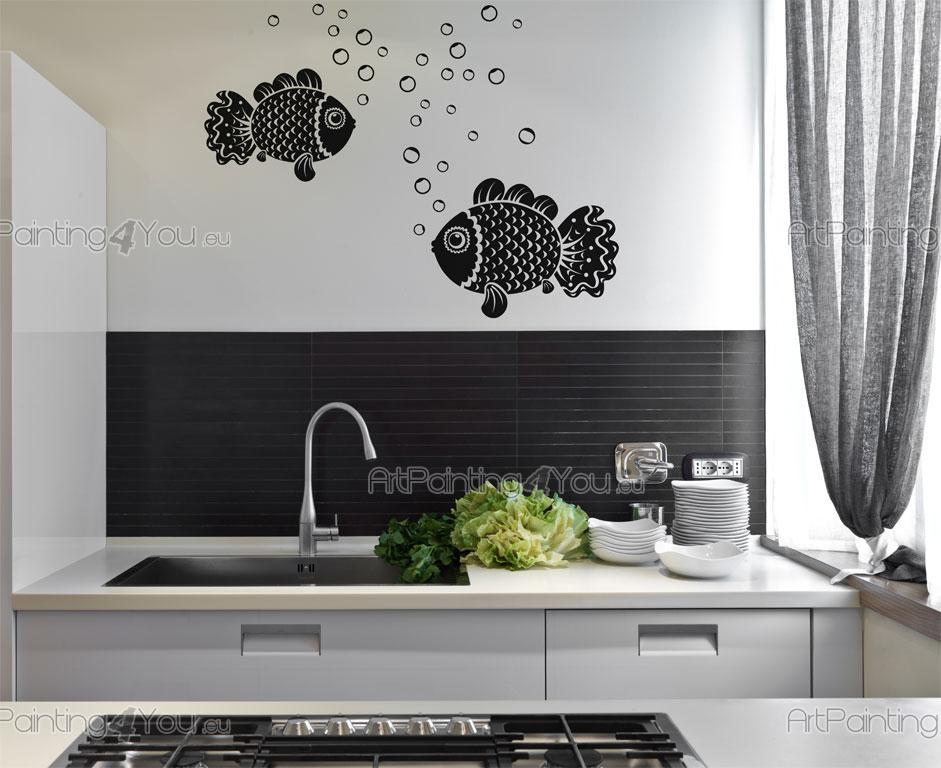 Adesivi murali pesci vdan1015it for Adesivi cucina