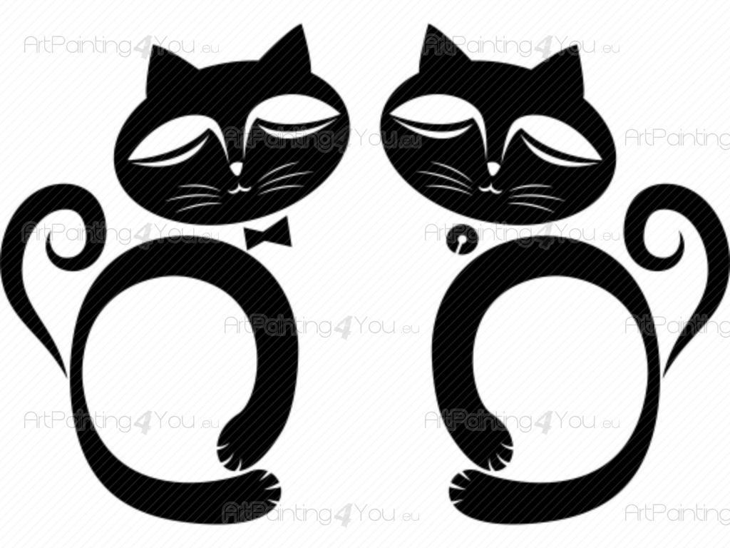 Bezaubernd Wandtattoo Katzen Sammlung Von (kit) - Tiere