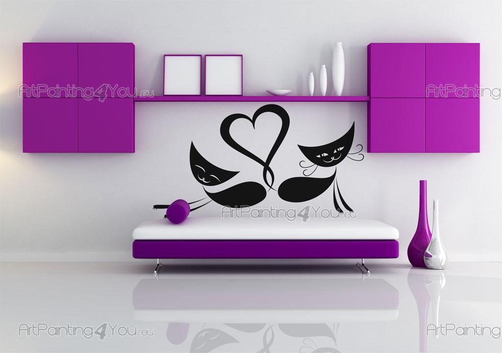 Stickers pared gatos vdan1030es - Cenefas para habitaciones ...