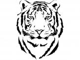 Animals Wall Stickers - Animals wall decals illustrating the design of the head of a tiger