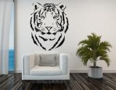 Tiger Silhouette - Animals wall decals illustrating the design of the head of a tiger