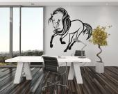 Horse - Wall decals for interior decoration, perfect for bedrooms and living rooms illustrating a horse in dance steps