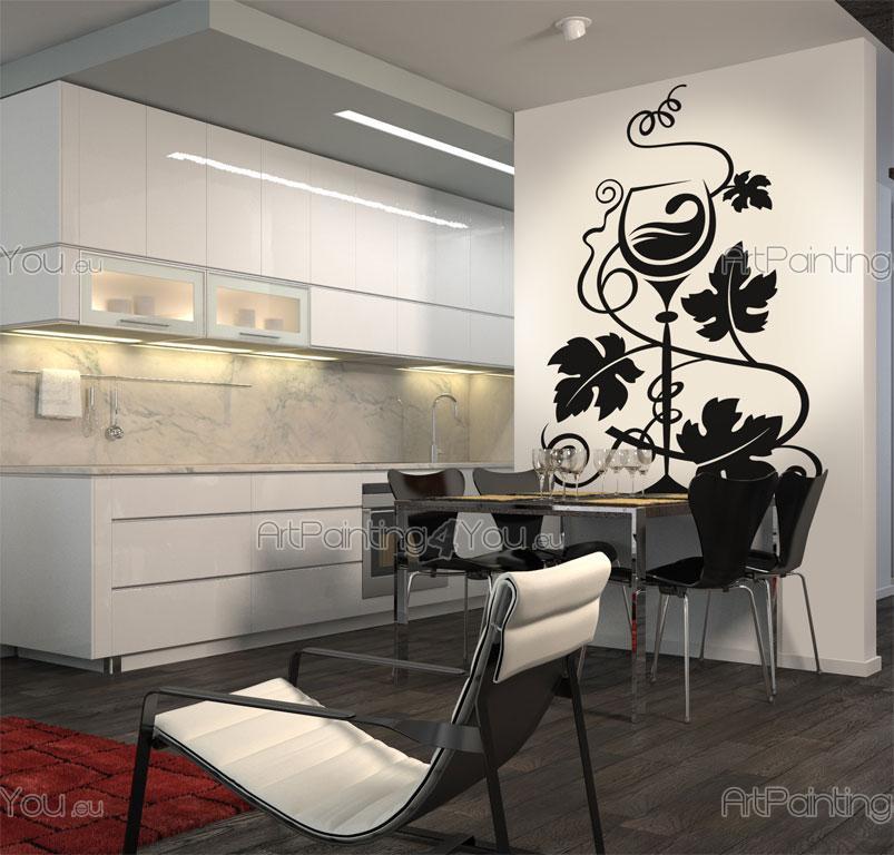 stickers muraux raisins vdc1003fr. Black Bedroom Furniture Sets. Home Design Ideas