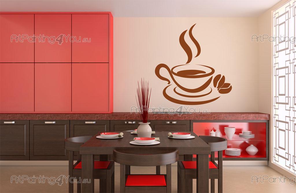 Muurteksten Keuken : Muurstickers Keuken Koffie (2100nl)