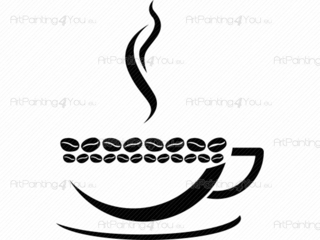 Dessin Tasse De Café Fumant stickers muraux café | artpainting4you.eu® | (vdc1014fr)