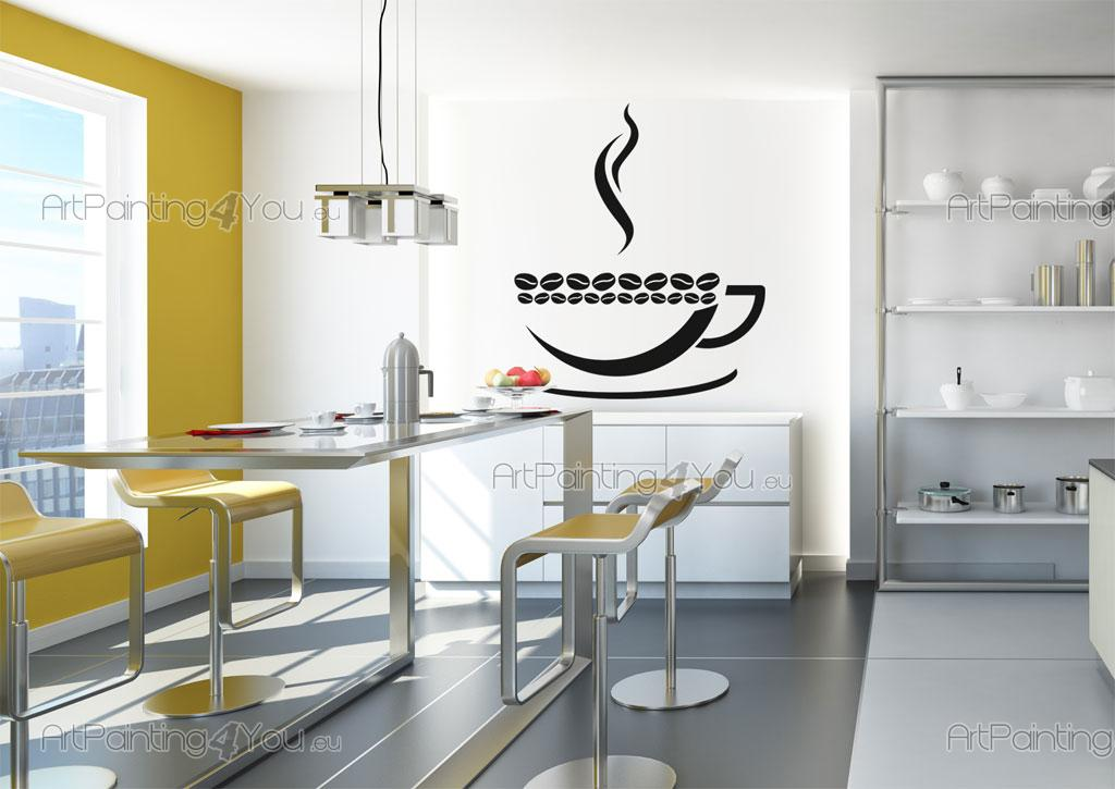Fotobehang Keuken Design : Muurstickers Keuken Koffie (2101nl)