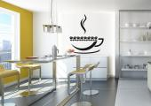 Kitchen Wall Stickers - Wall stickers for a wall of a coffee store or kitchen. It is a healthier, energizing version of a margherita with coffee beans instead of sea salt. A ...