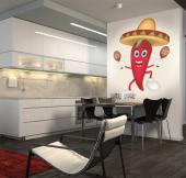 Chili Peppers - Kitchen Wall Decals