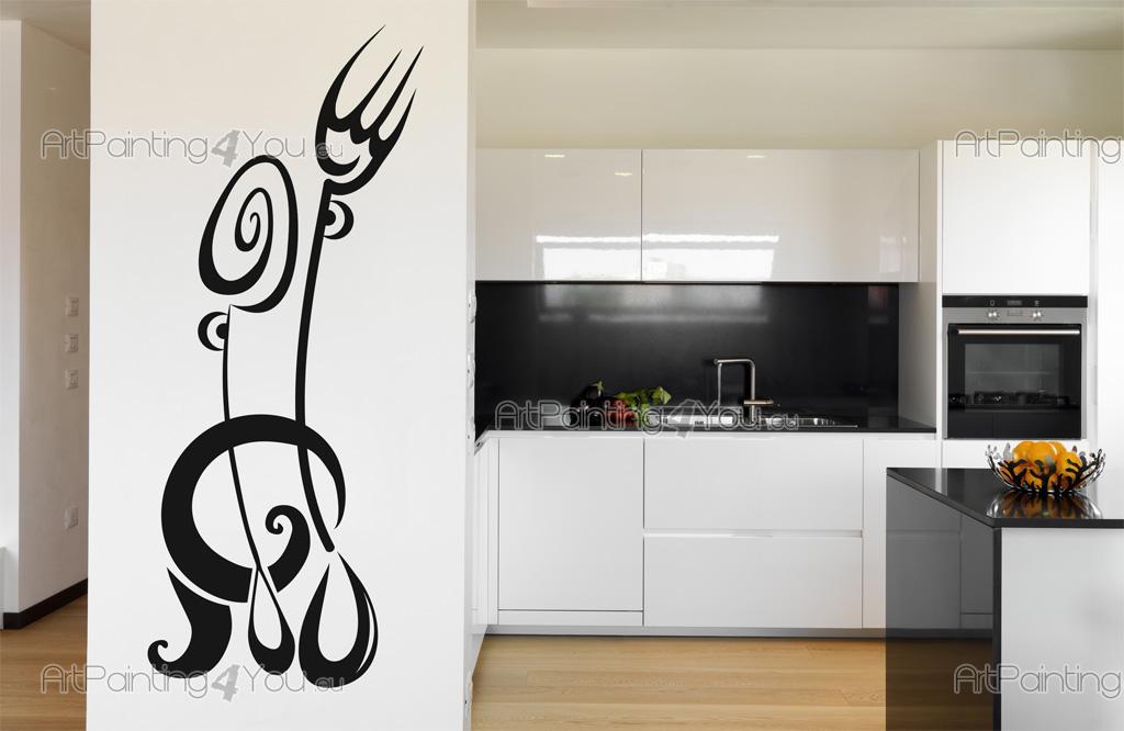 Vinilos decorativos cocina cocina cubiertos 2485es for Vinilos pared cocina