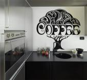 Kitchen Wall Stickers - Wall decals for bars, restaurants and your kitchen. Show your love for coffee on a wall with a sticker of a large tree that bears coffee beans and inc...