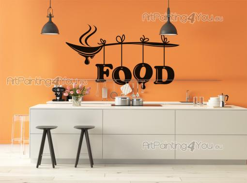 Kitchen Wall Stickers - Decorate your kitchen with our wall decals. This stickers features a spoon filled with soup that traveled over several nations at the speed of light t...