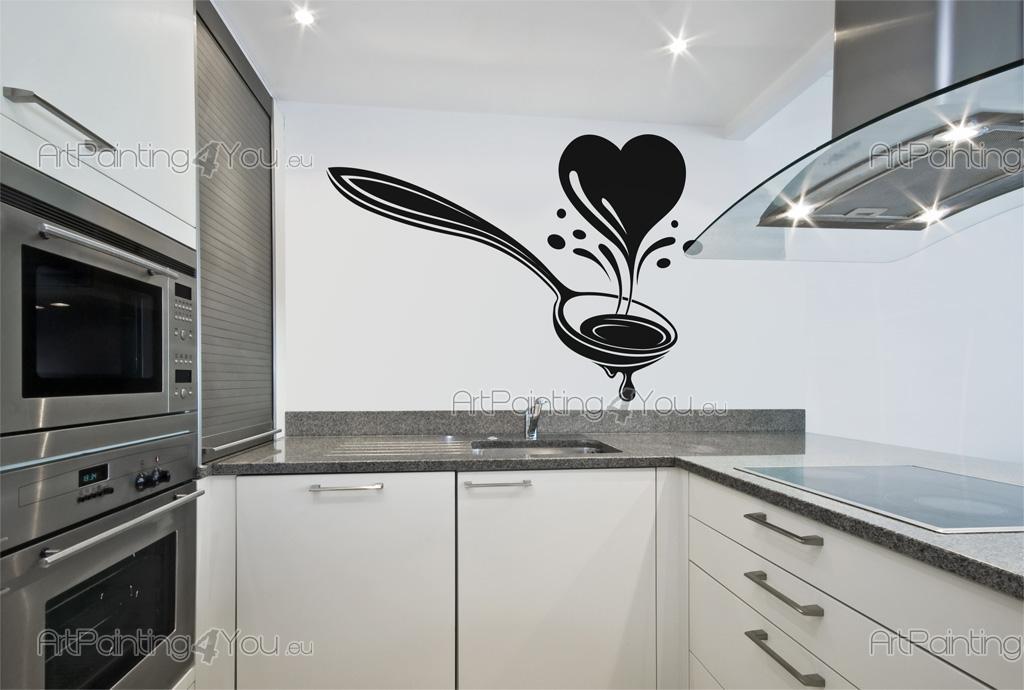 Vinilos decorativos cocina cocina cubiertos 2492es for Adhesivos decorativos para muebles