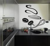 Kitchen Wall Stickers - Kitchen wall stickers. Start your day with the mere sight of a hot coffee cup as a preparation for what comes next: the perfect hot drink!...