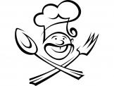Kitchen Wall Stickers - Have a decorative sticker on a kitchen wall. Take a look at our decal of a kind chef with his hat on, crossing his utensils like a pirate!...