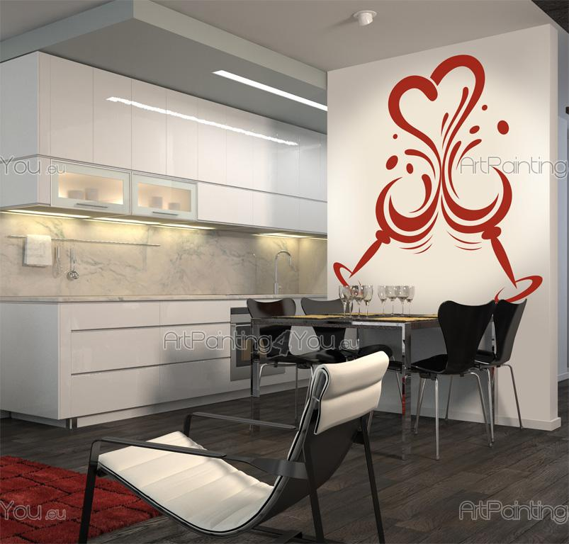 Wall stickers kitchen kitchen design 2503en for Kitchen cabinets lowes with modern wall art stickers